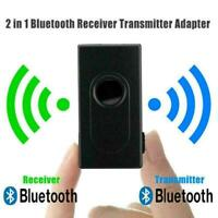 Bluetooth 5.0 Transmitter Receiver 2 IN 1 Wireless Aux Jack 3.5mm Adapter L0Z1