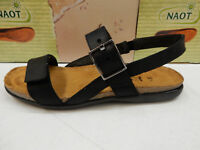 Naot Peyton Coal//Black//Black Leather Slide Sandal Women/'s size 5-11//36-42 NEW!!!
