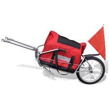 Single Wheel Cargo Trailer Bicycle Bike Luggage Cart Steel Carrier w/Storage Bag