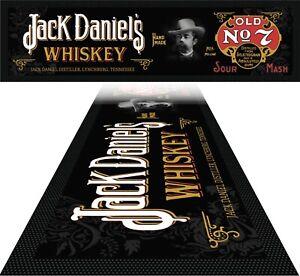 BAR MAT - Bar Runner Aussie Man Cave Beer Spill Mat Pub Rubber Jack Daniels