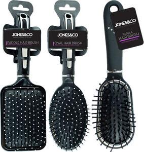 Professional Salon Hairbrush Comb Styling Paddle Oval Diamante Cushion Massage