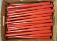 "Lot of 25 Mini Souvenir Baseball Bats 18"" Real Wood Blemish Bats RED"