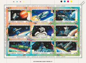 History of Space Exploration 1957-1989 Spacecraft Stamp Sheet #5 (Sierra Leone)