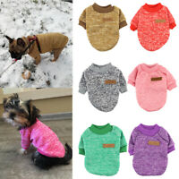 Autumn Winter Pet Dog Clothes Soft Warm Small Dogs Jumper Sweater Puppy Hoodie