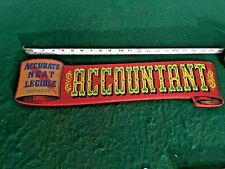 ACCOUNTANT Vintage-Look Hand Painted Wooden ACCOUNTANT Sign