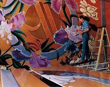 8x10 Handpainted Flower Mural ArtWork Photo Portfolio Pages Artist-Gift