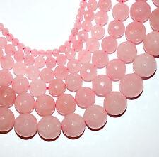 Rosenquarz Perle Kugel facettiert glanz rosa 4 - 14 mm, 1 Strang #4731 BACATUS