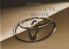 Toyota Landcruiser II VX & 4Runner UK Market Brochure July 1994 30 Pages