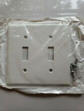 New Leviton Switch Cover White 2 Way with 4 Screws