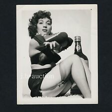 Pinup Girl w HOT BRA/Giovane donna in aufreizender biancheria * VINTAGE 60s US PHOTO