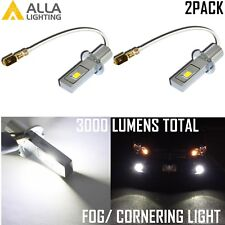 AllaLighting LED H3 Cornering|DRL|Fog Light Bulb Driving Lamp Bright White 6000K