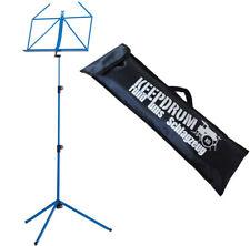 K&M 100/1 Notenständer Notenpult Blau mit Keepdrum Tasche Bag