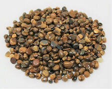 1 lb Undrilled Loose TIGER EYE Chips 5 - 7 mm Mini Semi Tumbled Stones 16 oz