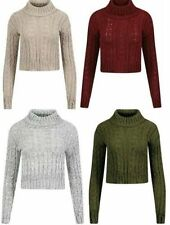 Unbranded Women's Chunky, Cable Knit Knit Crew Neck Jumpers & Cardigans