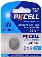 1 x CR1632 3V Lithium Batterie auf 1 Blistercard a 1 Stück PKCELL