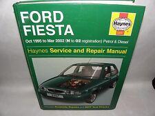 HAYNES MANUAL- FORD FIESTA - HATCHBACK 1995-2002 (N-02 REG) PETROL & DIESEL HB