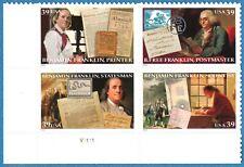 USA Sc. 4024a 39c Benjamin Franklin 2006 MNH block of 4