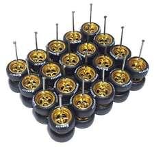 1/64 tires 4 spoke gold rims fit Hot Wheels Matchbox diecast -10 sets -R008-10 K