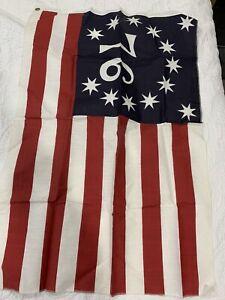 Vintage Spirit of 76 Bicentennial American Flag 13 Stars 3' x 2'
