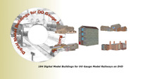 184 Digital Model Buildings for OO Gauge Model Railways on DVD