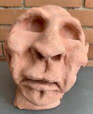 Vintage Ceramic Stoneware Head Bust Sculpture Abstract Modern Art Mid Century
