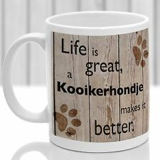 Kooikerhondje dog mug, Kooikerhondje dog gift, ideal present for dog lover