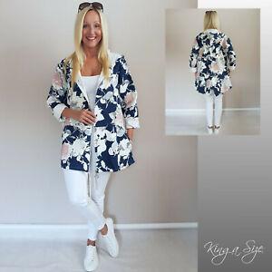ITALY Damen Jacke Hoodies & Kapuze Kaputzenjacke Sweatjacke Pullover Gr.46 blau
