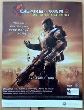 Gears of War 2 Poster Ad Print XBox 360