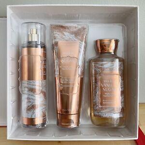 New Bath & Body Works Warm Vanilla Sugar Gift Box Set Lotion Shower Gel Cream