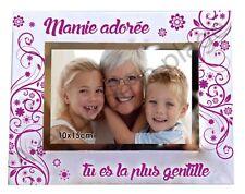 """Cadre photo """"Ma Mamie adorée"""" à poser horizontal verre idée cadeau original neuf"""