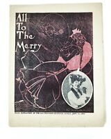 All to the Merry 1904 Sheet Music Malle Little Louis Pritzkow Newspaper Edition