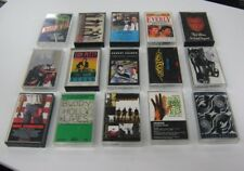 15 Different Rock N Roll Cassettes 1980's & 90's Stones-Genesis-Petty-Boston