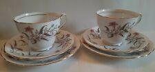 2 X  Royal Standard Fine Bone China'Fancy Free' Trios, cups saucers,Tea plates.
