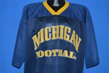 vintage 90s MICHIGAN UNIVERSITY WOLVERINES MAJESTIC FOOTBALL JERSEY t-shirt L
