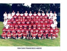 1994 SAN FRANCISCO 49ERS 8X10 TEAM PHOTO  FOOTBALL NFL CALIFORNIA USA