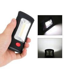 Portable 400 Lumen COB LED Flashlight Magnetic Hook Clip Work Light Camping