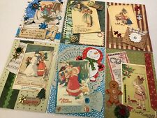 Babes in Toyland Merry Christmas Vintage Card KIT 6 cards
