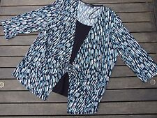 MIRRORS TOP SIZE 20 LIKE NEW STRETCH JACKET LOOK OVER CAMISOLE