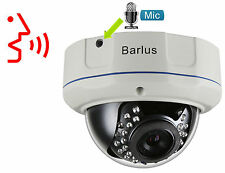 HD1080P POE Audio Vandal proof IP Camera MIC 2MP IR Onvif CCTV Security Network