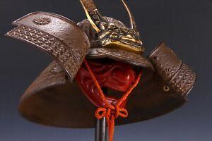 Japanese Vintage Samurai Helmet -Kusunoki Masashige Kabuto- middle size Tsushima