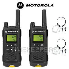 8 Km Motorola XT180 Walkie Talkie Dos Vías PMR 446 Radio Doble + 2 micrófonos de garganta