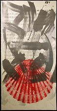 Scott Sandell #86.8 signed ORIGINAL monoprint ART shell green SUBMIT BEST OFFER!