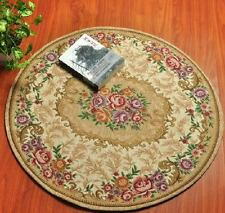 Charming  Floor Mat Rug Carpet  Round Country Floral Carpet Style D