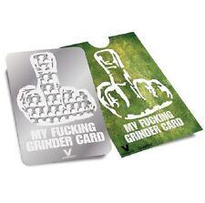 V. Syndicate My F Grinder Card Flat Pocket Wallet Size Tobacco Grinder