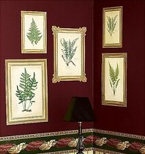 WALLIES FERN PRINTS wall stickers 5 big prepasted framed decals foliage leaves