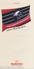 Subaru Preisliste 5 93 price list Justy Libero Station 1800 Legacy SVX 1993 PKWs