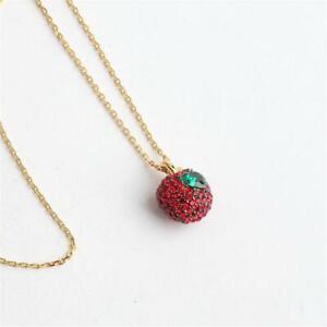 Kate Spade New York Dashing Beauty Pave Apple Pendant Necklace
