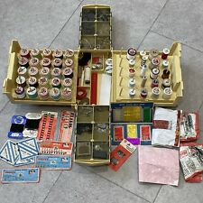 More details for vintage carry case sewing box bundle sylko threads, needles, hook & eye, pins