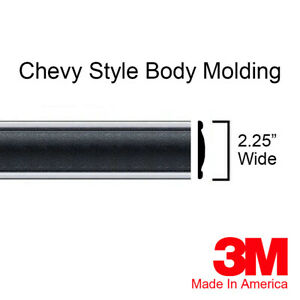 "Chevy Tahoe Suburban Black Side Body Trim Molding 2.25"" -  80"" Roll By Brickyard"
