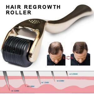 Derma Micro-Needle Titanium Roller Face Anti Aging Hair Growth Beard Regrowth~
